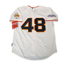 San Francisco GIANTS #48 Pablo Sandoval Baseball WS Cool Base Jersey L/XL