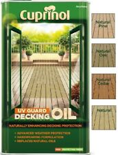 Cuprinol UV Guard Decking Oil Water Based 2.5 Litres / 5L ALL NATURAL COLOURS