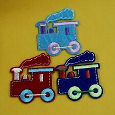 Train Engine Locomotive Iron on Sew Patch Applique Badge Embroidered Baby Cute