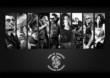 Sons Of Anarchy Main Characters Collage Poster A1 A2 A3 A4 All Sizes SOA Cult