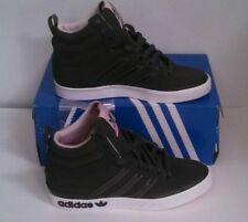 New Adidas Top Court Womens Basketball Trainers Mid Shoes Brown/Pnk w/ 2 Laces