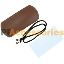 NEW Clam Shell Hard Case for Eyeglass Sunglasses w/ Cleaning Cloth & Strap