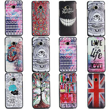 New Luxury Painted Thin PC Hard Back Skin Cover Case For HTC One M8 M7