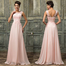 VINTAGE Long Evening Gown Formal Wedding / Bridesmaid Ball Gown Prom Party Dress