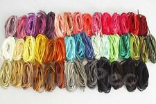 Soft Leather Lace Thong Cord for Jewelry Crafts Flat Faux Suede 5mm x 1m