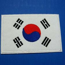 Korea Flag Korean Iron on Sew Patch Applique Badge Embroidered Biker Applique