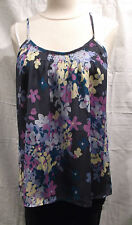 Tucker Top Silk Printed Smocked Camisole Top in Floral Print M NWT $184
