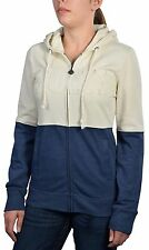 Roxy Juniors Four Square Delta Full Zip Hoodie-Heather Blue/Cream
