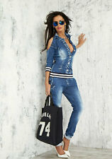 By Alina Jeansoverall Einteiler Damenoverall Jeans Overall Hose Catsuit XS S M