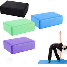 Yoga Block Brick Sports Exercise Fitness Gym Workout Stretching Aid NEW