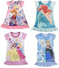 Girls Disney Cinderella / Frozen / Princess Nightie Nightdress Nighty Size 2-8 Y