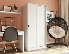 100% Solid Wood 2-Sliding Door Wardrobe by Palace Imports, 3 Colors