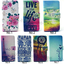 Flip PU Leather Wallet Credit Cards Holder Stand Case Cover For Various Phones