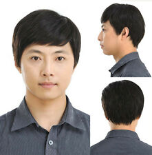 Handsome PAPA 100% real natural human hair men full wig wigs can be dyed permed