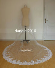 New style different length 1 layer bone lace wedding bridal veil