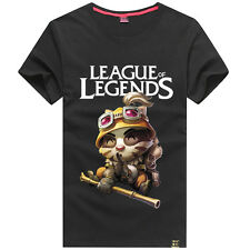 New LOL League of Legends Teemo 100% Cotton T-shirt Short Sleeve Clothes