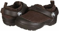 "New! Baby Toddler Crocs™- ""Dawson Kids"" Suede Clogs/Sandals in Espresso  D24"