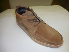 Hey Dude Men's Rimini Winter Nut Suede Lace-Up Casual Flat Shoes Sizes 8-13