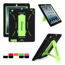 Hybrid Color Heavy Duty Rugged Hard Soft Case Cover Stand for Apple iPad 4 3 2