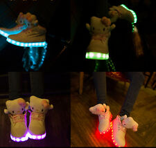 2015 New Womens girls lace Up Marquee USB light high top sneakers flat shoes