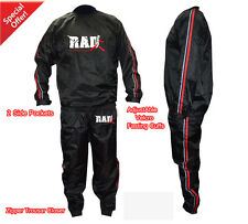 RAD™Sauna Sweat Suit Exercise Gym TrackSuit Fitness Weight Loss Red & White New