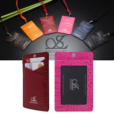 Credit Card Holder ID Holder Purse with 100% Genuine Leather Sauvanuel