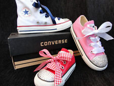 Converse With Crystals Kids Infants Sizes 4 5 6 7 8 9 Youths 10 11 12 13 1 2