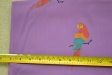 """By-the-Half-Yard, 42"""" Wide, Bright Parrot on Lavender Poly/Cotton-Blend, M3531"""
