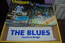 CHELSEA HOME PROGRAMMES 1980 TOO 1983 YOUR CHOICE