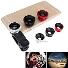 3 in 1 Fish Eye + Wide Angle Micro Lens Camera Kit for iPhone 5G 4S 4 6 Plus TL