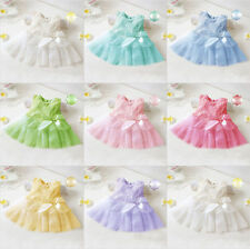 New Baby Girls Toddler Lace Princess Flower Tutu Dresses Party Bridesmaid 0-24M
