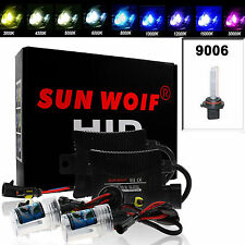 55W HID Xenon Conversion Kit Single Beam Slim Ballasts Headlights 9006/HB4 6000K