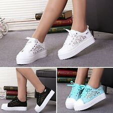 Tide Women Canvas Shoes Platform Spring Sneakers Internal Increased Thick Sole