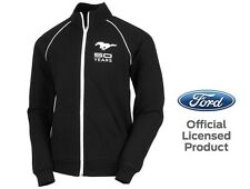 Men's Ford Mustang 50 Years Track Jacket Zip Black White Official Licensed