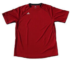 New with Tags Men's Adidas Climalite SS Varsity Performance Shirt- Red w/Black