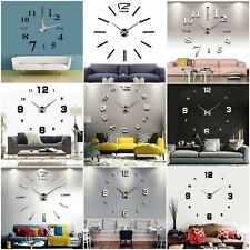 3D DIY Adesivo Orologio da Parete Moderno Regalo Home Room Decor Wall Clock New