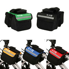 BOIBICYCLE CYCLING TOP TUBE SADDLE BAG BIKE FRAME PANNIER BAG RACK DOUBLE POUCH