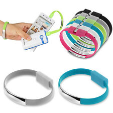 Micro USB Cable Bracelet Wristband Charger Charging Data Sync Cord FR Cell Phone