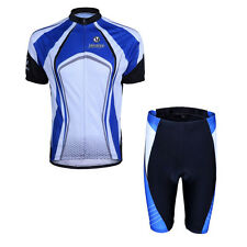 Blue Cycling BIke Clothing Bicycle Sport Wear Suit Short Sleeve Jersey Riding