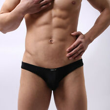 A US Mens Underpants Underwears Thin Transparent Briefs Shock Seamless Sexy NEW