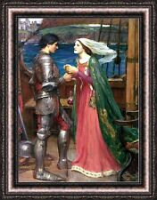 "John William Waterhouse Tristan and Isolde Framed Canvas Print 27""x35"" (V04-28)"