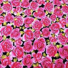 Packed Pink Roses by Sandy Clough for Red Rooster, Cotton Fabric