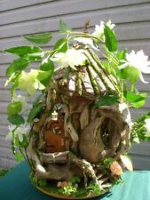 1/12th scale OOAK Driftwood  FAIRY  HOUSE Cottage dollhouse  by J. McLaughlin