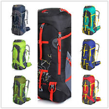 large Outdoor Camping Travel Hiking Rucksack Climbing super Backpack+ rain cover