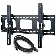 """New Tilting TV Wall Mount Bracket For Sharp Vizio Displays 30"""" to 85""""+HDMI CABLE"""