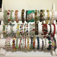 Various Natural Crystal Handmade Round Bead Bracelets