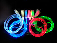Glow LED Light Micro USB Charger Data Sync Cable Cord for Android cell phone