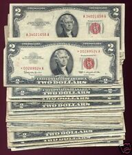 (50) 1953 1963 $2 RED SEALS w/star note & 1928