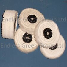 General Purpose Stitched Cotton buffing wheel - for polishing metal wood plastic