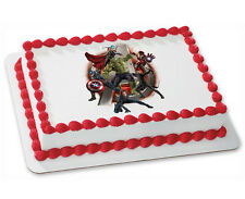 Avengers Age of Ultron Birthday ~ Frosting Cake Topper ~ Edible Image ~ D6104